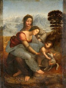 Anna selbdritt, Leonardo da Vinci, Louvre, Paris
