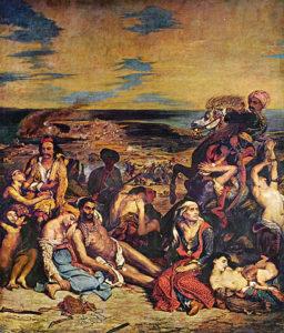 Das Massaker von Chios, Louvre, Paris