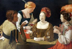 Der Falschspieler mit dem Karo-Ass, Louvre, Paris